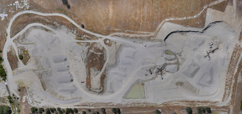 Orthophoto of a Central Otago quarry